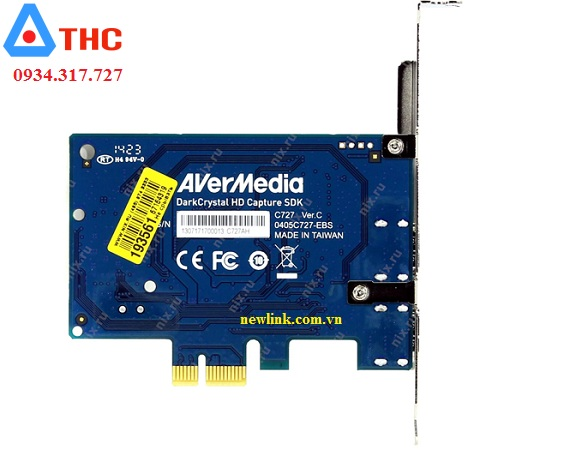 Card ghi hình PCI-E to HDMI, AV, Svideo AverMedia C727