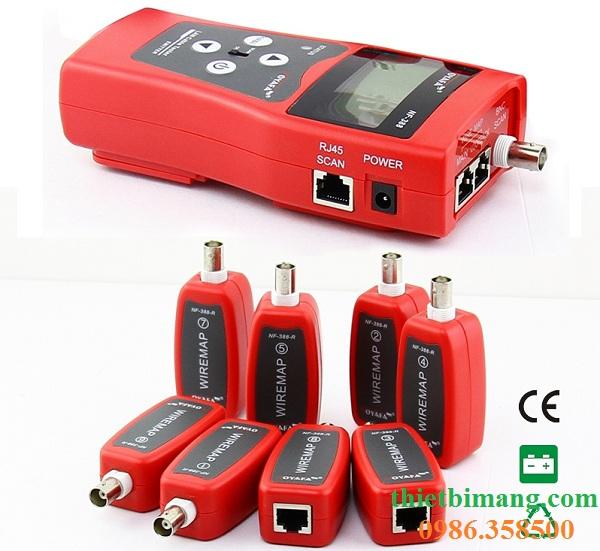 Máy kiểm tra mạng, máy test mạng cao cấp NF388 đo số mét, dò tín hiệu
