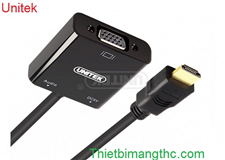Cáp HDMI ra VGA + Audio 3.5mm Unitek Y-6333
