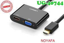 Cáp HDMI ra  VGA + HDMI + Audio 3.5mm Ugreen 40744