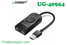 Cáp USB Sound 3.5mm Có Volume UGREEN 40964