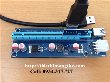 Dây Riser PCI Express 1X to 16X USB 3.0 Ver 006C 6Pin