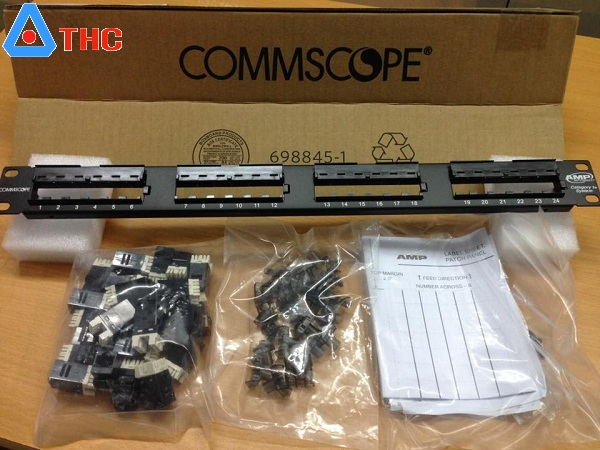Patch panel 24 Port cat5e Commscope nhân rời