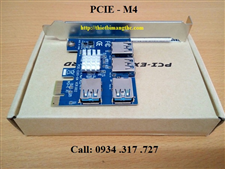 PCIE M4 Switch riser 4 PCI-E 1X  to 4 PCI-E 16X