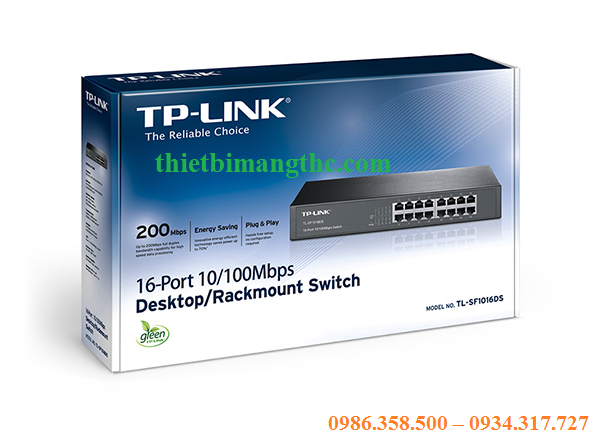 Switch TP-Link 16 Port -10/100