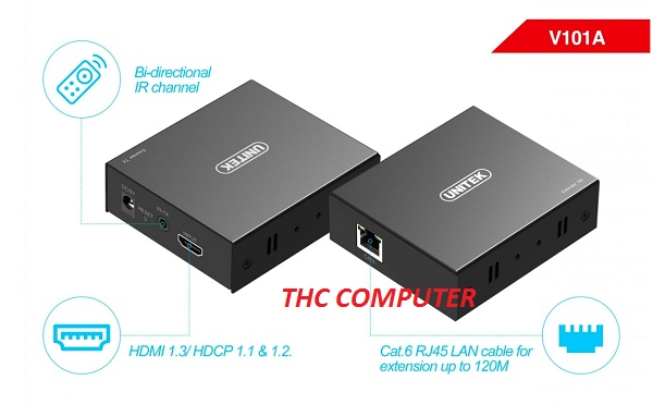 Bộ kéo dài HDMI 150M Unitek V101A Cao cấp
