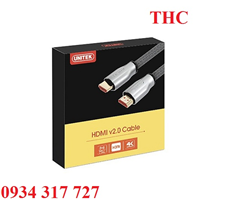 Cáp HDMI 2.0/4K, dài 2M Unitek Y-C138RGY Cao cấp