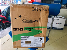 Cáp U/UTP dây đồng nguyên chất CAT6 AMP Commscope, CMR, hộp 305m